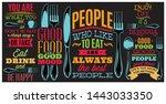 color inscriptions in retro... | Shutterstock .eps vector #1443033350