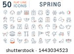 set of line icons of spring for ... | Shutterstock . vector #1443034523