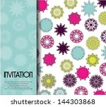 invitation card with beautiful... | Shutterstock .eps vector #144303868