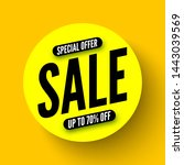 round yellow sale banner ... | Shutterstock .eps vector #1443039569