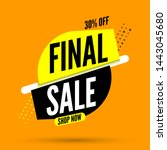 final sale banner  30 percent... | Shutterstock .eps vector #1443045680