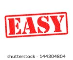 easy rubber stamp over a white... | Shutterstock . vector #144304804