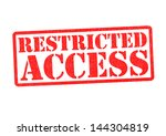 Restricted Access Rubber Stamp...