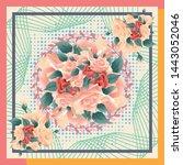 abstract silk hijab creative...   Shutterstock .eps vector #1443052046