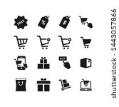 shopping flat vector icon set | Shutterstock .eps vector #1443057866