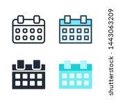 simple calendar icon vector...