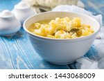 fresh homemade vegetable soup... | Shutterstock . vector #1443068009