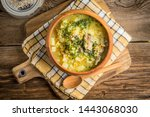 traditional soup with barley... | Shutterstock . vector #1443068030