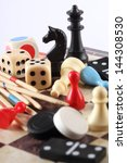 detail of board games  pawns ... | Shutterstock . vector #144308530
