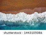 Ocean Wave On A Sandy Beach ...