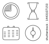logo clock icons time line art...