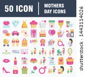 mothers day icon design concept.... | Shutterstock .eps vector #1443114026