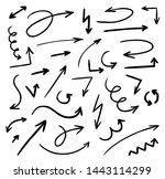 set of arrows. doodle hand...   Shutterstock .eps vector #1443114299