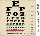 Vintage Style Grunge Eye Chart  ...