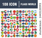 all official national flags of... | Shutterstock .eps vector #1443120593