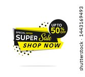 abstract sale banner template... | Shutterstock .eps vector #1443169493