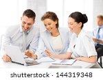 friendly business team having... | Shutterstock . vector #144319348