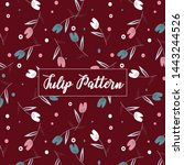 tulip print pattern it has... | Shutterstock .eps vector #1443244526