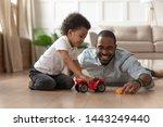 smiling loving african american ... | Shutterstock . vector #1443249440