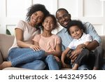 portrait of happy young african ... | Shutterstock . vector #1443249506