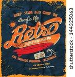 vector retro surf poster | Shutterstock .eps vector #144325063