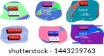 illustration. sales banner.... | Shutterstock .eps vector #1443259763