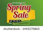 spring sale design background...   Shutterstock .eps vector #1443270863