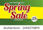 spring sale design background...   Shutterstock .eps vector #1443270893