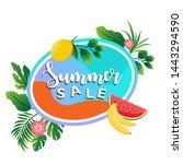 summer sale banner design...   Shutterstock .eps vector #1443294590