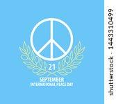 poster for international peace... | Shutterstock . vector #1443310499
