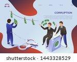 flyer is written corruption ...   Shutterstock .eps vector #1443328529