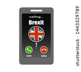 smartphone with call screen....