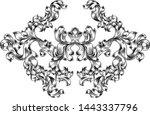 an art nouveau or italian... | Shutterstock .eps vector #1443337796