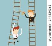businessman being cut | Shutterstock .eps vector #144334363