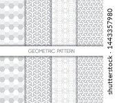set of monochromatic geometric... | Shutterstock .eps vector #1443357980