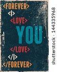 vintage saint valentine's... | Shutterstock .eps vector #144335968