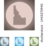 vector map of the idaho | Shutterstock .eps vector #1443370940
