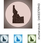 vector map of the idaho | Shutterstock .eps vector #1443370943