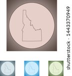 vector map of the idaho | Shutterstock .eps vector #1443370949