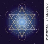 Metatron Cube Symbol On A...