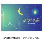 eid ul adha mubarak.eid al adha ... | Shutterstock .eps vector #1443412733