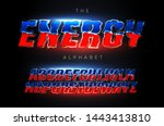 energy letters set. electric... | Shutterstock .eps vector #1443413810