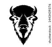 bison head logo black white...   Shutterstock .eps vector #1443439376
