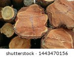 Wooden Background Dark Brown...