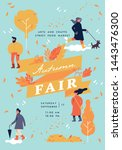 vector autumn fair poster ... | Shutterstock .eps vector #1443476300