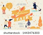 vector autumn fair poster ... | Shutterstock .eps vector #1443476303