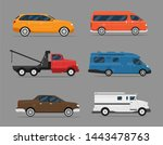 set of isolated cars of...   Shutterstock .eps vector #1443478763