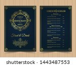 menu layout with ornamental... | Shutterstock .eps vector #1443487553