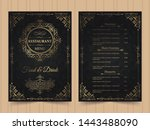 menu layout with ornamental... | Shutterstock .eps vector #1443488090