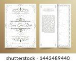 invitation card vector design   ... | Shutterstock .eps vector #1443489440